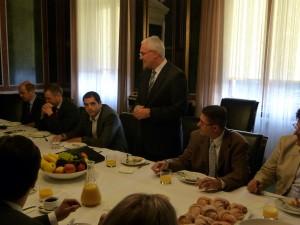 Südamerika Frühstück im Parlament