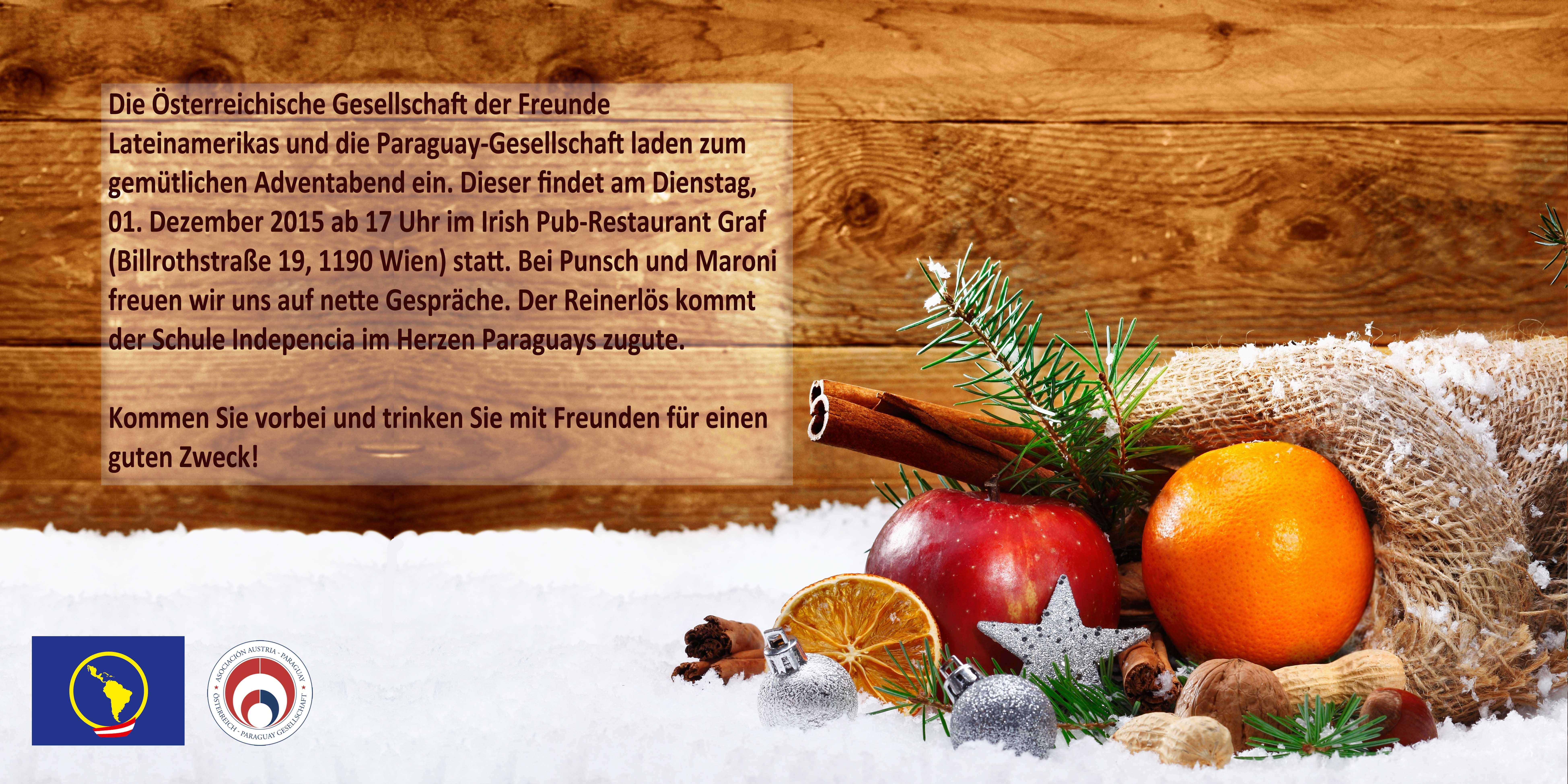 Weihnachtseinladung ÖGFLA